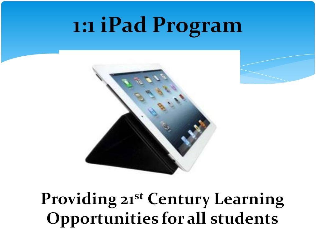 1to1 iPad Program