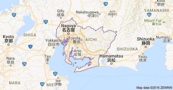 Map of Aichi Prefecture